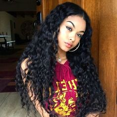 Where To Buy Full Lace Wigs Water Wave Full Lace Human Hair Wigs Brazilian Hair Natural Color 100 Human Hair, Human Hair Wigs, Curly Wigs, Curly Full Lace Wig, Deep Curly, Long Curly, Short Hair, Curly Hair Styles, Natural Hair Styles