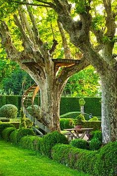 Dominique Lafourcade tree house - les Confines, Provence Gosh, I love this. Wished I had one in my back yard! The Secret Garden, Cool Tree Houses, Dream Garden, Play Houses, Garden Projects, Garden Ideas, Garden Inspiration, The Great Outdoors, Beautiful Gardens