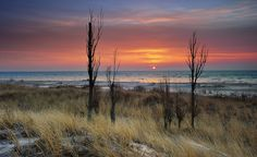Lake Huron sunrise - {Tawas Point State Park... East Tawas, Michigan}