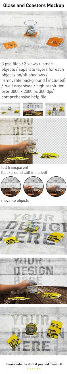 3 psd files / 3 views /smart objects / separate layers for each object / on/off shadows / removable background ( included) /well o