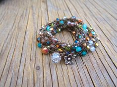 Mystic meadow wrap bracelet or necklace natural boho by Sydnejo