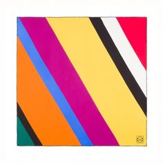Loewe Scarves & Shawls - 90X90 MULTICOL. STRIPES SCARF Multicolour