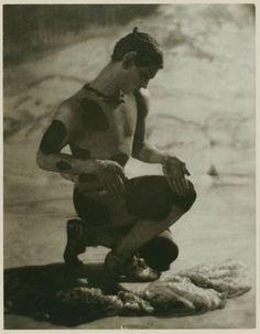 Vaslav Nijinsky in Le Spectre de la Rose , 1911 by Adolf de Meyer