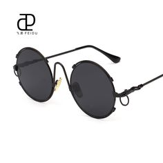 FEIDU 2016 Fashion Steampunk Goggles Sunglasses Women Men Brand Designer Retro Coating Mirror Sun Glasses Gafas Oculos De Sol