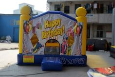 happy birthday bounce house for sale, the best bouncer you can get for kids special day. Things That Bounce, Things To Think About, Bouncy Castle, Tarpaulin, Panel Art, Special Day, 1 Piece, Have Fun, Happy Birthday