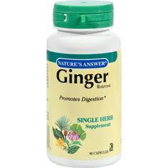 Nature's Answer Ginger Rhizome - 90 Vegetarian Capsules