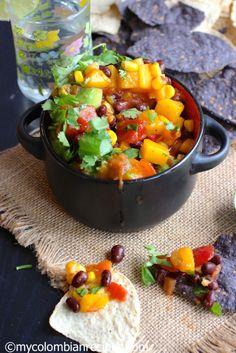 Mango, Black Bean and Corn Salsa |mycolombianrecipes.com