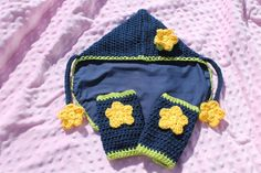 Soft structured carrier CUSTOM crochet accessory set TULA ERGO drool pads, hood, and reach straps on Etsy, $78.00