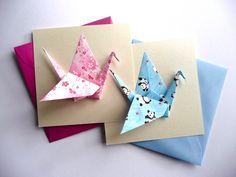 Faire-part naissance - Origami grue