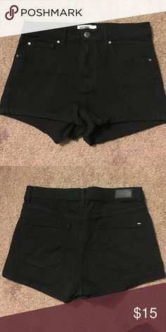 High waisted black retro jeans Retro high waisted black shorts from garage never worn! Size 7-8 Garage Shorts Jean Shorts