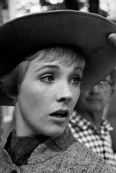 1965 The Sound of Music. Julie Andrews on backstage