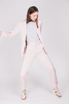 Day jacket - Pale Pink by By Malina Pale Pink, White Jeans, Coats, Jackets, Shopping, Fashion, Down Jackets, Moda, Wraps