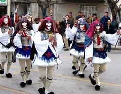 GR~~~Μακεδονια -Ναουσα (The highlight of the Carnival of Naoussa (in Northern Greece) is the appearance of people disguised as Yianitsari and Boules (Brides).