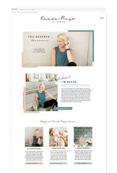 Showit website template for life coaches personal trainers fitness coaches an - Wix Template - Create your website with Wix. - Showit website template for life coaches personal trainers fitness coaches and more! Website Design Inspiration, Website Design Layout, Layout Design, Web Layout, Page Design, Website Designs, Simple Website Design, Blog Layout, Design Design
