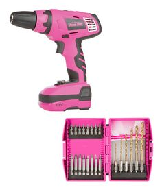 For tough projects, this rechargeable drill offers plenty of versatility with its multiple torque settings and built-in LED light. A chuckless drill head makes changing bits a cinch.