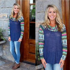 Shipping is FREE and RETURNS are Easy! Shop at www.southernorangeboutique.com today. Loving the mix of colors in this amazing top
