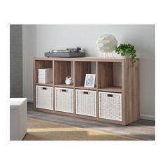 KALLAX Shelf unit - walnut effect light gray - IKEA