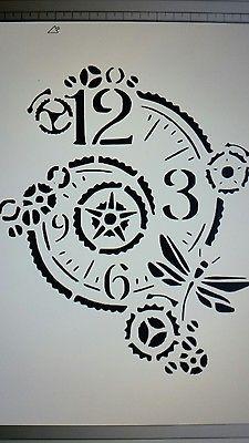 Schablone  Uhr5 auf A4