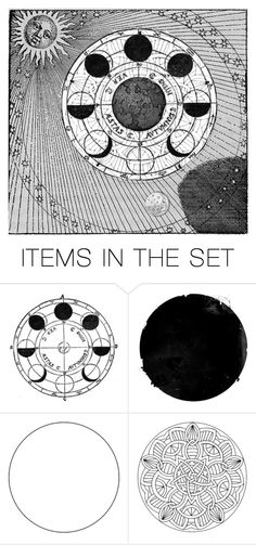 """Lunar Cycle"" by lady-mercutio ❤ liked on Polyvore featuring art"