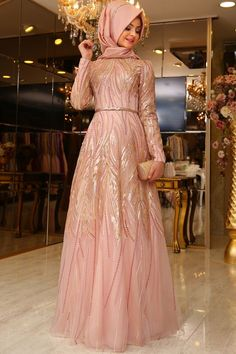 Fancy party wear with hijab abaya dress Muslim Gown, Muslim Evening Dresses, Hijab Evening Dress, Muslimah Wedding Dress, Muslim Wedding Dresses, Muslim Fashion, Hijab Fashion, Moslem, Dress Brokat