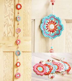 This gorgeous crochet flowers bunting or garland is in my Maisy range. It comes … This gorgeous crochet flowers bunting or garland is in my Maisy range. It comes in colour options: pink; Mandala Au Crochet, Poncho Au Crochet, Beau Crochet, Crochet Mignon, Crochet Diy, Crochet Motifs, Crochet Gifts, Crochet Flower Bunting, Crochet Puff Flower