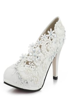 Lace Flower Bead White Bridal Kitten Heel Wedding Shoes is well-designed. NewChic offers a wide range of cheap pumps shoes for women, like black pumps, white pumps, etc. Kitten Heel Wedding Shoes, Wedding Shoes Heels, Lace Heels, Shoes Heels Pumps, Low Heel Shoes, Bride Shoes, High Heel Pumps, Women's Shoes, Dress Shoes