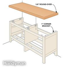 Install top - Ikea Hemnes Hack: Built-in Bench http://www.familyhandyman.com/woodworking/projects/ikea-hemnes-hack-built-in-bench/view-all