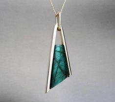 Labradorite Pendant (Tuning fork): Pendants by Wesley Harris MFA. Modern Jewelry, Silver Jewelry, Forks Design, Tuning Fork, Angel Pendant, Diy Jewelry Tutorials, Labradorite, Jewelry Design, Pendants