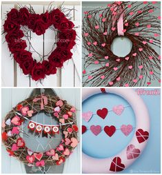 Valentine's Day wreath collection