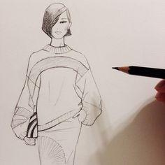 Drawing #DriesVanNoten. #fashionillustration #sketch #drawing #fashionart #runway #fallfashion