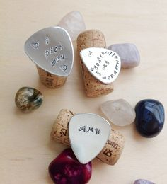 Personalized Guitar Pick  Hand Stamped by BlueCornerCreasigns