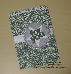 Here's a new Thinlits die set from the Stampin' Up! 2015 Occasions Catalogue. It's called Mini Treat Bag. http://tracyelsom.stampinup.net