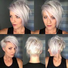 60 Best Hairstyles for 2019 - Trendy Hair Cuts for Women Asymmetrical, Long Pixie Haircut - Short Hair Styles for Fine Hair Haircuts For Fine Hair, Short Pixie Haircuts, Short Hair Cuts, Haircut Short, Pixie Cuts, Choppy Haircuts, Pixie Haircut Fine Hair, Messy Ponytail Hairstyles, Pixie Hairstyles