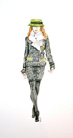 Fashion Art Fashion Illustration Chanel by runwayrenderings, $45.00
