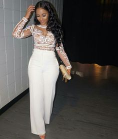 Stylish All White Party Outfits Ideas All White Party Outfits, White Outfits For Women, All White Outfit, Classy Outfits, Chic Outfits, Fashion Outfits, Clothes For Women, White Outfit Party, Woman Outfits