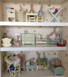 A dolls house with maileg furniture
