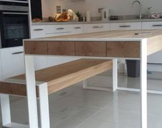 Handmade dining set steel & timber table with benches - Dining Set - Ideas of D. Handmade dining set steel & timber table with benches - Dining Set - Ideas of Dining - Handmade dining set Steel Furniture, Diy Furniture, Furniture Design, Furniture Plans, Office Furniture, Furniture Outlet, Modern Furniture, Timber Table, Wood Table