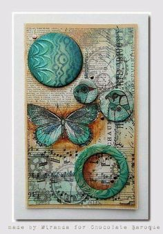 Butterfly horus junk journal clear elements