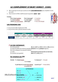 les PRONOMS COD French Language Lessons, French Language Learning, French Lessons, French Expressions, French Teaching Resources, Teaching French, French Words, French Quotes, High School French