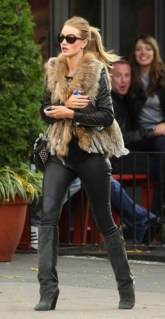 Fur vest. Leather. Boots. Done and done.