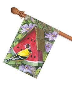 This Watermelon Bird Outdoor Flag is perfect! #zulilyfinds