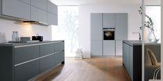Contur® 55.100 Stone Grey and Lava Black Matt Kitchen