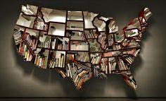 Bookshelf USA map