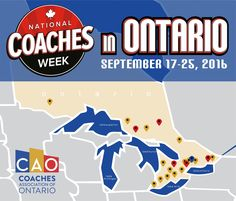 Celebrating Coaches in Ontario for over 10 years!   September 17th– 25th…