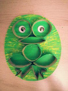 La grenouille - rouleau en carton Kindergarten Art, Frogs, Yoshi, Activities, School, Character, Toilet Paper Rolls, Frog Art, Art Activities