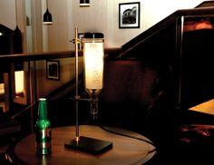 Wine Bottle Lamp: Lab