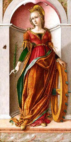 Карло Кривелли Святая Екатерина Александрийская 1491-94  Британская Национальная галерея (National Gallery, London)
