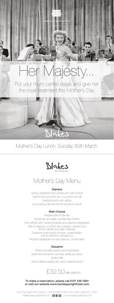 Mothers Day is a Royal Affair in Blakes this year