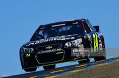Jeff Gordon, driver of the #24 AARP Member Advantages Chevrolet, practices for the NASCAR Sprint Cup Series Toyota/Save Mart 350 at Sonoma Raceway on June 26, 2015 in Sonoma, California.