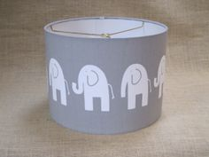 Lamp Shade Elephant Drum Lampshade in Gray by SweetDreamShades, $62.00